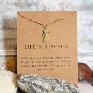 Summer Life's a Beach Seahorse Necklace